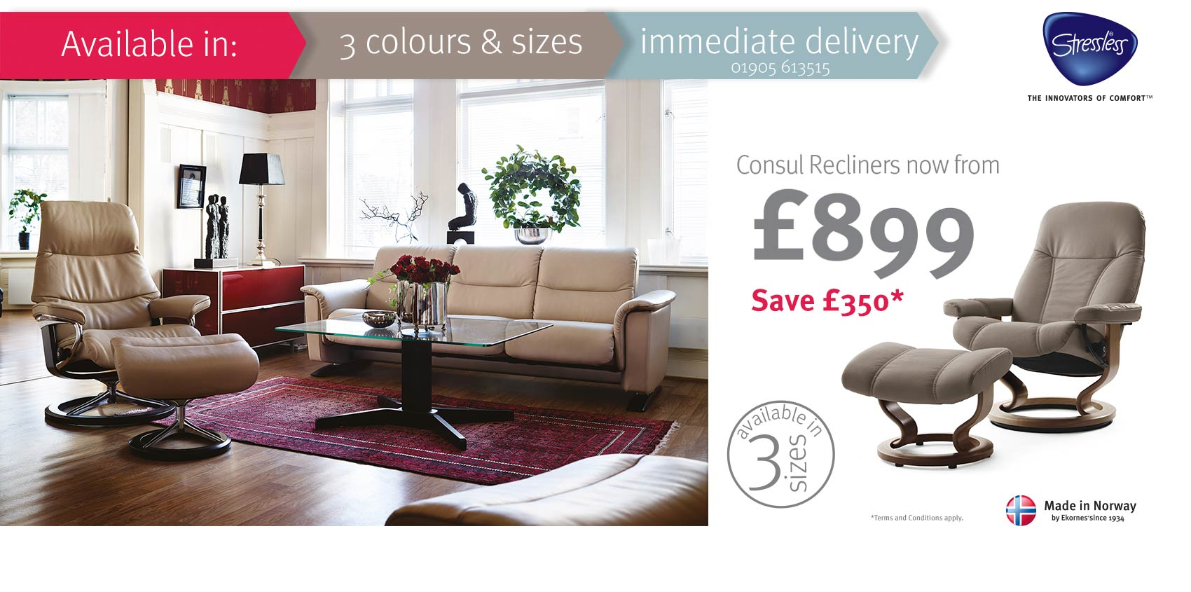 Stressless Consul Promotion at Insitufurniture.co.uk