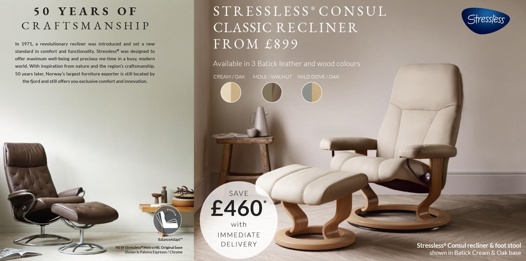 Insitu Stressless Consul promotions
