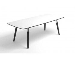 Style Sofa Table White Black legs