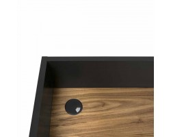 volga pure black walnut detail