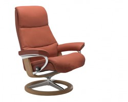 Stressless View Medium Signature Base Recliner