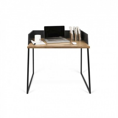 Volga Office Table in black and walnut