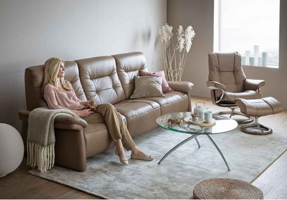 Stressless Mary 3 Seater in Upholstered